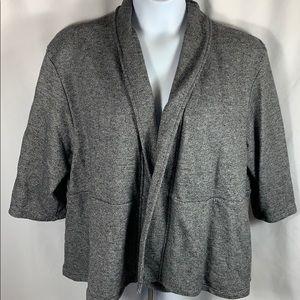 Jackets & Blazers - Gray Cardigan Knit Blazer